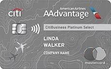 Citibusiness aadvantage platinum select credit card