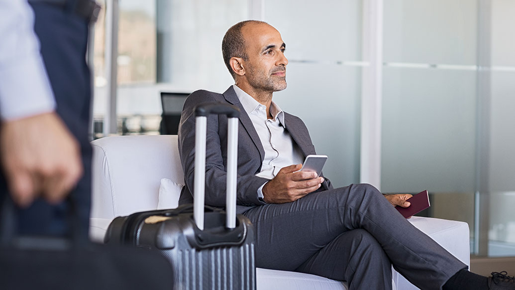 Citi Prestige® Card customer waiting for flight bought with redeemed ThankYou® Points