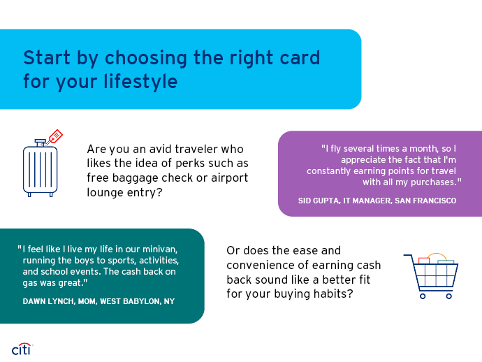 Start by choosing the right card for your lifestyle