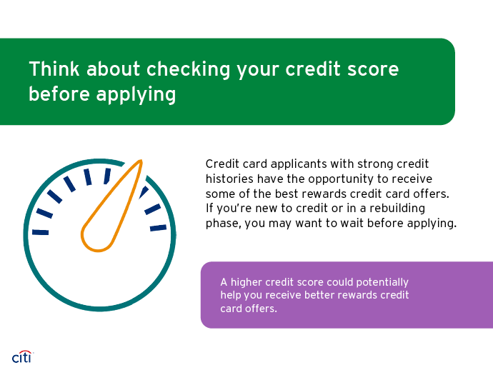Think about checking your credit score before applying