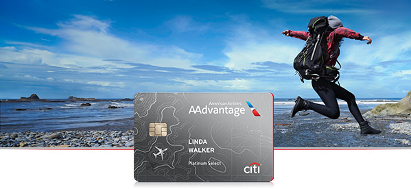 Man travelling with Citi® / AAdvantage® credit card