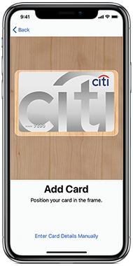 Set Up Apple Pay and Connect your Citi Credit Card